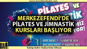 PİLATES VE JİMNASTİK KURSLARI BAŞLIYOR