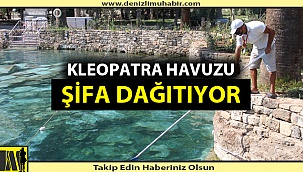 Denizli'de Kleopatra Havuzu'na yoğun ilgi