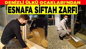 DENİZLİ ÜLKÜ OCAKLARI'NDAN ESNAFA SİFTAH ZARFI