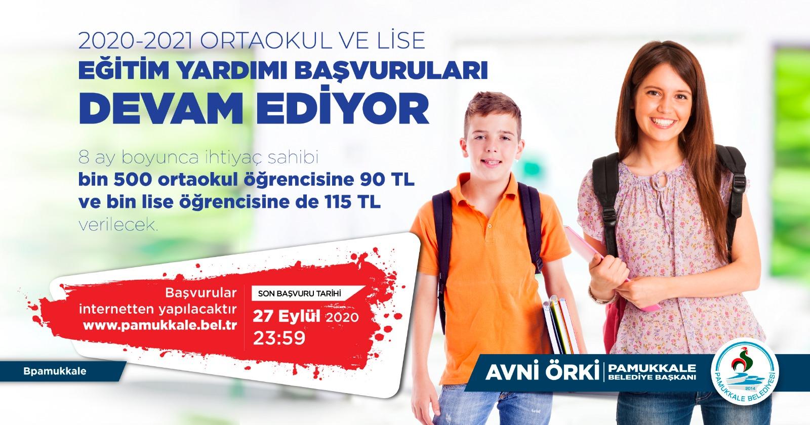 Pamukkale Belediyesi'nde eğitim yardımı başvuruları devam ediyor