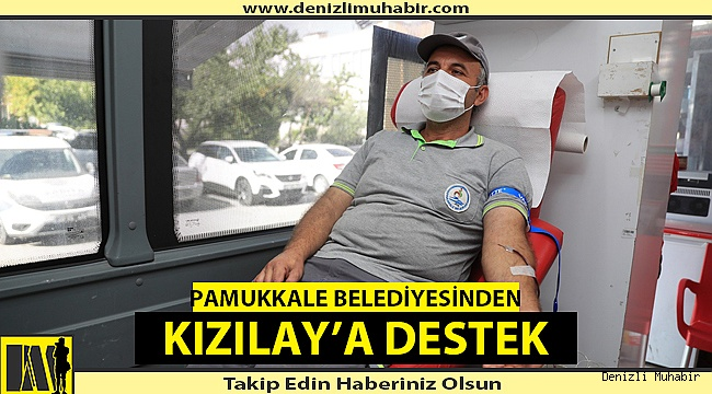 Pamukkale Belediyesinden Kızılay'a destek