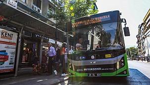 Büyükşehir, Cumhuriyet Bayramı'nda otobüsleri ücretsiz yaptı