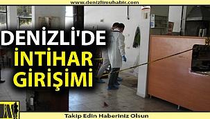 Denizli'de işçi kahvehanede intihar girişiminde bulundu