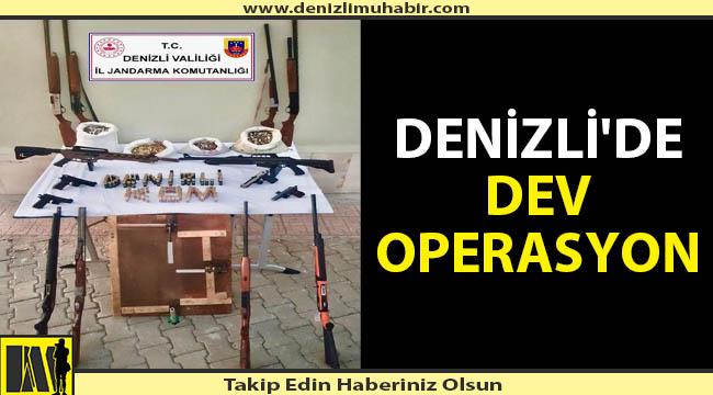Denizli'de silah kaçakçılarına darbe