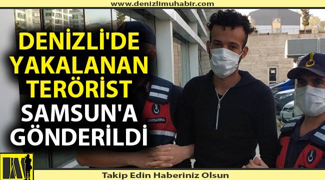 Denizli'de yakalanan terörist Samsun'a gönderildi