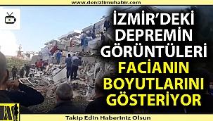 İzmir'deki deprem görüntüleri facianın boyutlarını ortaya çıkardı!