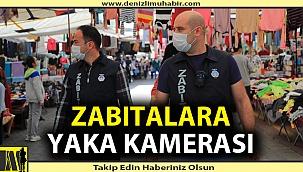 Pamukkale Belediyesinden zabıtalara yaka kamerası