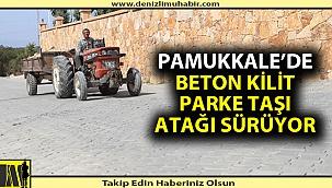 Pamukkale'de beton kilit parke taşı atağı sürüyor