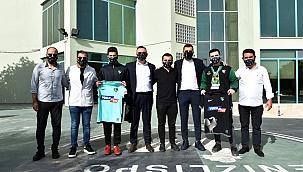 Şanslı 3 taraftar Denizlispor'un antrenmanını izledi