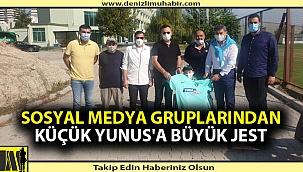 Sosyal medya gruplarından Küçük Yunus'a büyük jest