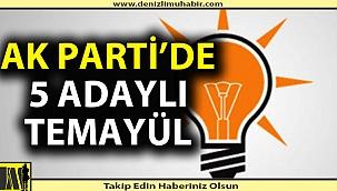 AK Parti'de 5 isim aday