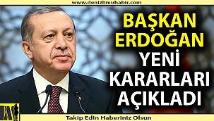 Cumhurbaşkanı Erdoğan yeni kısıtlama kararlarını açıkladı