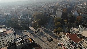 Denizli'de sokaklar bomboş kaldı