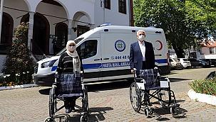 Mevlid, tekerlekli sandalye oldu
