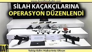 Denizli'de silah kaçakçılarına operasyon düzenlendi