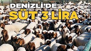 Denizli'de süt fiyatı 3 lira olarak belirlendi