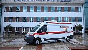 Sağlık Müdürlüğünden PAÜ DSHMYO'ya Ambulans Desteği