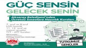 Aksaray Belediyesi, öğrencileri sınavlara hazırlıyor