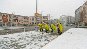 Pamukkale Belediyesi'nden kar mesaisi