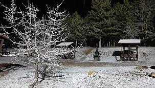 Denizli'nin yüksek kesimde kar yağışı başladı