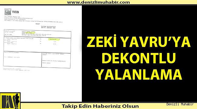 Denizlispor Zeki Yavru'yu dekontla yalanladı