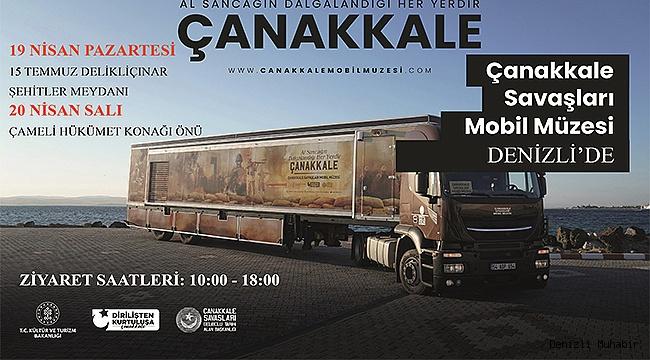 Çanakkale Mobil Müzesi, Çanakkale ruhunu Denizli'ye getiriyor