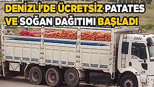 Denizli'de ücretsiz patates ve soğan dağıtımı başladı