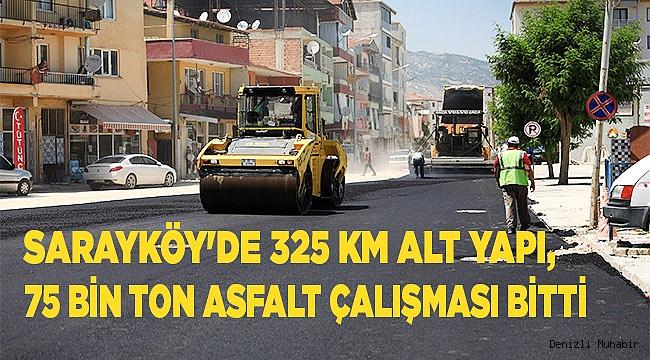 Sarayköy'de alt ve üst yapı çalışmaları tamamlandı