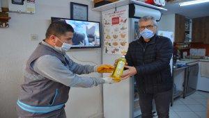 Pamukkale'de atık yağa karşı 'sıvı deterjan' hediye