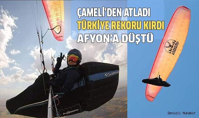 Yamaç Paraşütü Türkiye Kadınlar rekoru kırdı