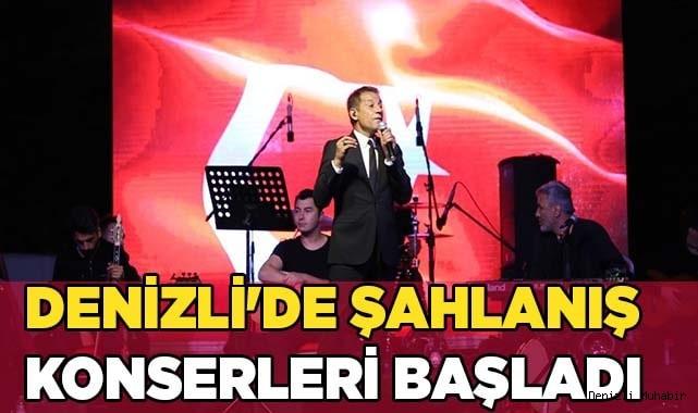 Denizli'de şahlanış konserleri başladı
