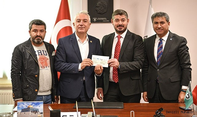 Teoman Sancar'dan Denizlispor'a 10 bin lira bağış
