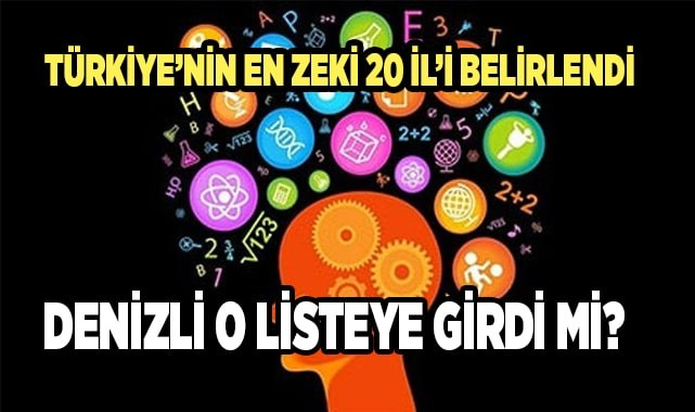 Türkiye'nin en zeki 20 il'i belli oldu