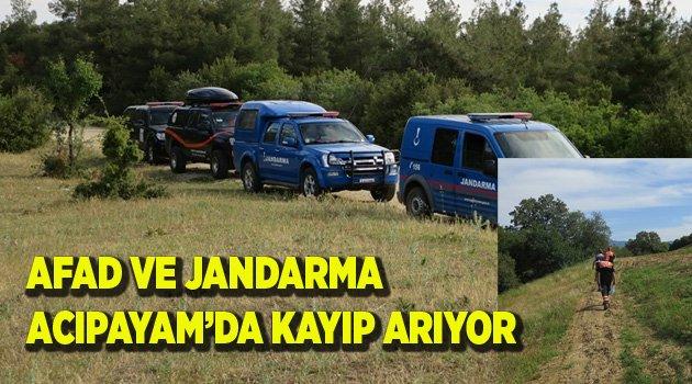 AFAD VE JANDARMA ACIPAYAM'DA KAYIP ARIYOR